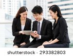 group of business people work... | Shutterstock . vector #293382803