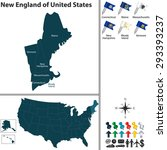 vector set of new england of