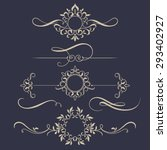 decorative monograms and... | Shutterstock .eps vector #293402927