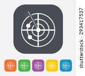 radar icon    Shutterstock .eps vector #293417537