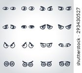 vector black cartoon eyes icon... | Shutterstock .eps vector #293430527