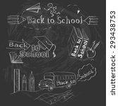 set of back to school vector... | Shutterstock .eps vector #293438753