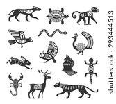 Ethnic Tribal Totem Animal Wit...