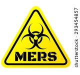 warning sign of mers virus... | Shutterstock .eps vector #293454857
