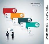 infographics options banner.... | Shutterstock .eps vector #293474363