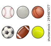 image of collection of ball... | Shutterstock . vector #293487377