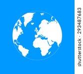pictograph of globe.... | Shutterstock .eps vector #293487683
