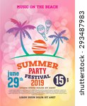 poster summer party and brochure | Shutterstock .eps vector #293487983