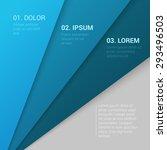 stylish modern corporate blue... | Shutterstock .eps vector #293496503