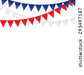 party background with flags ... | Shutterstock . vector #293497187