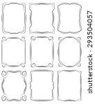 set of frames design elements.... | Shutterstock .eps vector #293504057