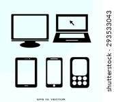 digital devices | Shutterstock .eps vector #293533043