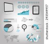 vector illustration of business ... | Shutterstock .eps vector #293549957