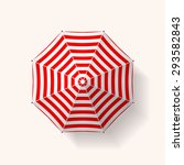realistic beach umbrella... | Shutterstock .eps vector #293582843
