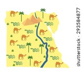 egypt map. characters and... | Shutterstock .eps vector #293584877