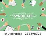 vector syndicate concept... | Shutterstock .eps vector #293598323
