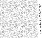 vector illustration happy... | Shutterstock .eps vector #293601803