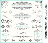 vector ornate frames and scroll ... | Shutterstock .eps vector #293610203