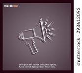 vector icon megaphone | Shutterstock .eps vector #293612093