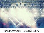 crowd at concert   cheering... | Shutterstock . vector #293613377
