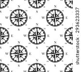 ancient ornate compass roses... | Shutterstock .eps vector #293623337