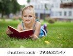 portrait of beautiful happy... | Shutterstock . vector #293632547
