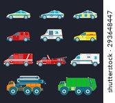 vector city transport set in... | Shutterstock .eps vector #293648447