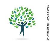 single people tree logo | Shutterstock .eps vector #293651987