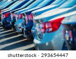 parked cars on a lot. row of... | Shutterstock . vector #293654447