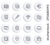 banking flat contour icons on... | Shutterstock .eps vector #293680493