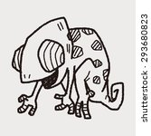 chameleon doodle | Shutterstock . vector #293680823