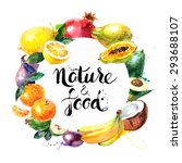 eco food menu background.... | Shutterstock .eps vector #293688107