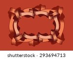 vintage frame with curly... | Shutterstock .eps vector #293694713