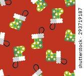christmas stocking flat icon...