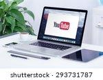 Youtube Logo On The Apple...