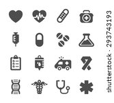 medical icon set  vector eps10. | Shutterstock .eps vector #293743193