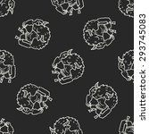 bull monster doodle seamless... | Shutterstock . vector #293745083