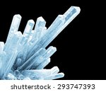 abstract ice crystals isolated...