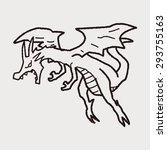 dragon doodle   Shutterstock . vector #293755163