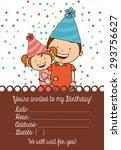 birthday invitation design ... | Shutterstock .eps vector #293756627