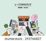 drawing flat design... | Shutterstock .eps vector #293766827