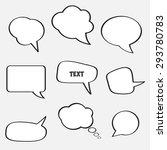 empty speech bubbles for text