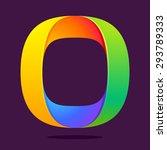 o letter one line colorful logo....   Shutterstock .eps vector #293789333