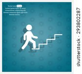 concept  businessman on stair... | Shutterstock .eps vector #293802287
