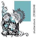 floral design vector pattern   Shutterstock .eps vector #29380348