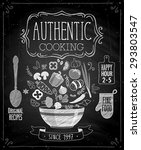 authentic cooking poster  ... | Shutterstock .eps vector #293803547