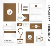 corporate identity for coffee... | Shutterstock .eps vector #293804297