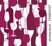 seamless background with wine... | Shutterstock .eps vector #293805437