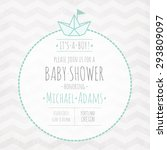 vector invitation to the baby... | Shutterstock .eps vector #293809097