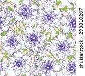 delicate floral background... | Shutterstock .eps vector #293810207